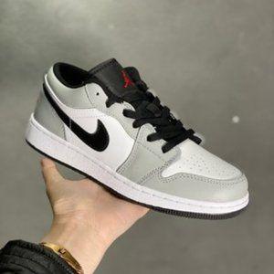 Air Jordan 1 Low Black and Grey Shadow